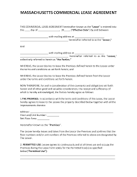 Download link for this sample legal lease agreement template. Official Massachusetts Commercial Lease Agreement 2020 Pdf Form