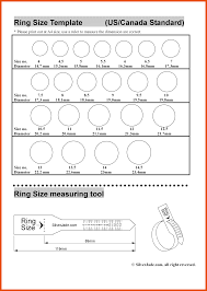 Printable Ring Size Chart Printable Ring Size Chart Us Foto Ring And Wallpaper