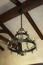 franklin iron works chandelier celier swirl amber scroll 32 wide 9 light bronze glass ribbon