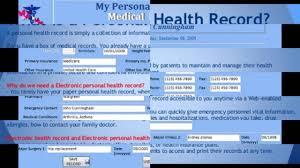 Digital Health Records Personal Health Record Youtube