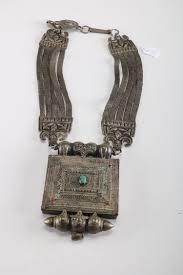 rare genuine antique silver tibetan amulet prayer box pendant necklace
