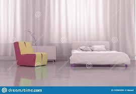 3d Das Rosa Schlafzimmer überträgt Stock Abbildung Illustration