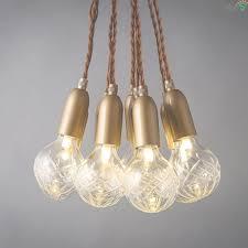 modern simple glass diy led chandeliers re copper loft bar led in led chandelier light
