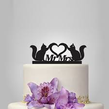 cats wedding cake topper mr and mrs wedding cake topper