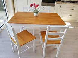 kosy koala country style white wooden dining table 4 chairs set furniture