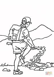 Small Picture Building a campfire coloring page Free Printable Coloring Pages