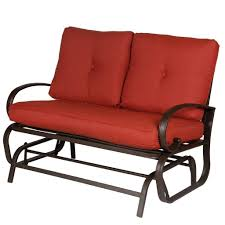 rod iron furniture. Wrought Iron Patio Furniture, Outdoor Loveseat, Glider Rod Furniture