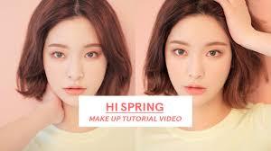 stylenanda hi spring make up tutorial en
