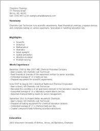 resume templates chemistry lab technician laboratory technician resume sample