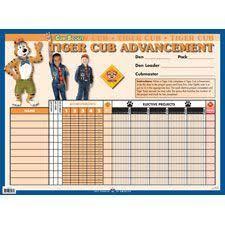 Wolf Advancement Chart Tiger Cub Scout Advancement Chart 2019