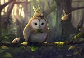 Artist Tranquil Owl wallpaper ...