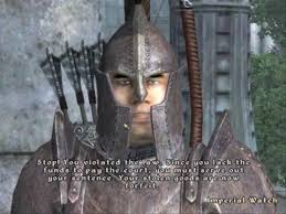 Skyrim Guard Quotes Awesome Imperial Guard Arrests YouTube