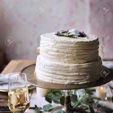 Delicious Cakes Dessert Bakery Wedding Reception Stock Photo