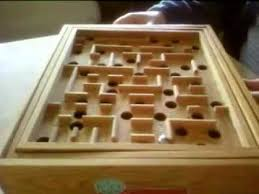 Wooden Maze Game With Ball Bearing Stunning Classic Wooden Labyrinth 32holes Completed 32min32sec YouTube