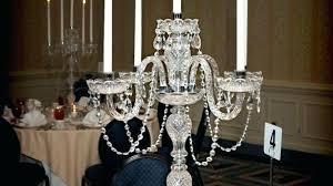 tabletop chandelier centerpieces