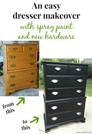 what a fun diy dresser makeover with spray paint and new hardware i can