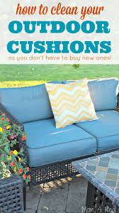 how to clean outdoor cushions and save