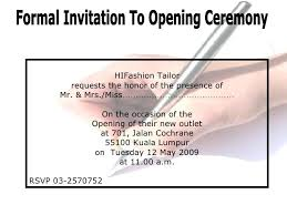 Opening Invitation Card Sample Opening Ceremony Invitation County Land Trust Invite House Opening