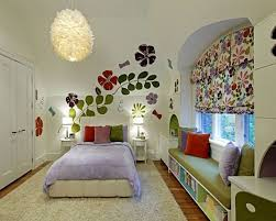 ... Appealing Interior Design Used In Kids Room Decorating Ideas :  Fascinating Flowery Window Valance In Kids ...