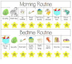 Kids Routine Charts Schedule Charts For Kids Daily Schedule