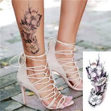 переводная тату купить временная татуировка цветы 33496 в магазине
