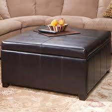 black leather tufted sofa. Square Ottoman Coffee Table Black Leather Cube Gray Tufted Sofa Oversized Circle Round Yellow Footstool Storage O