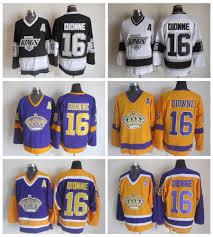 Los Dionne Marcel Ccm Cher Hockey Maillot Angeles De Classique Vintage Pas Jaune 16 Patch Kings Stitched A