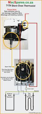 type 591035 71th thermostat 6mm shaft bush mount macspares here is a wiring diagram of how to connect up a 71 th oven thermostat
