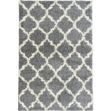 plush moroccan trellis design grey 7 ft x 9 ft