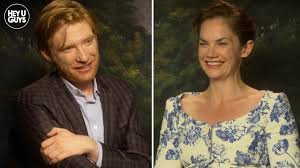 This is a video of domhnall geeson, he is yelling. Exclusive Domhnall Gleeson Ruth Wilson And Lenny Abrahamson Talk Their Thrilling Film The Little Stranger Heyuguys