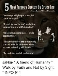 Most Famous Quotes By Bruce Lee WwwfacebookcomAfriendofHumanity Stunning Most Famous Quotes