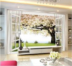 classic home decor sakura tree window 3d background wall mural 3d wallpaper 3d wall papers for tv backdrop uk 2019 from yiwuwallpaper gbp 6 26 dhgate