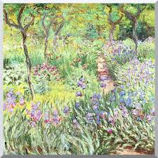 claude monet claude monet s iris garden at giverny stretched canvas art print