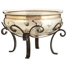 Gold Decorative Bowl Quatrefoil Bowl With Stand Gold Decor Decorative Bowls
