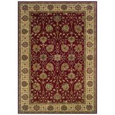 kiawah channing red 5 ft x 8 ft area rug