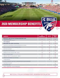 Fc Dallas Seating Chart Season Membership Benefits Fc Dallas