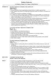 Student Services Coordinator Resume Samples Velvet Jobs
