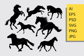 157 svg vectors & graphics to download svg 157. Horse Silhouette Graphic By Cove703 Creative Fabrica