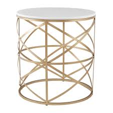 Paisley Round Gold End Table with Marble Top by iNSPIRE Q Bold - Free  Shipping Today - Overstock.com - 24131857