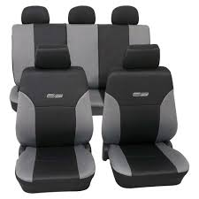grey black leather look car seat covers washable volkswagen golf 2 1983 1991