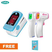 Cofoe <b>Finger</b> Pulse Oximeter + Infrared Non-contact IR <b>Digital</b> ...