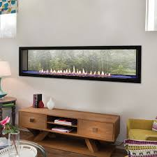 boulevard see through 60 inch vent free linear fireplace