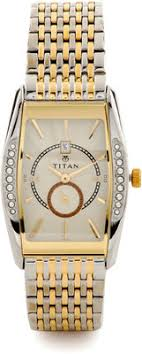lowest price for titan tycoon analog watch for men silver gold titan tycoon analog watch for men silver gold lowest price