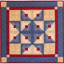 Log Cabin Star Quilt Kit - Complete Quilting Kits for Beginners at ... & Easy Quilt Kit for Beginners - Wall Quilt - Log Cabin Star Adamdwight.com