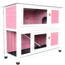 wooden hutch rabbit hutch bunny cage indoor outdoor small pet animal wooden 2 story house wood