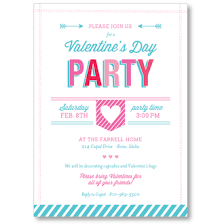 valentines party invitations valentines day personalized party invitation i heart to party
