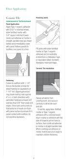 floor ceramic tile usg fiberock underlayment and tile backerboard user manual page 7 12