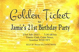 Party Ticket Invitations Fascinating 44 MAGNETIC BIRTHDAY PARTY INVITATIONS Personalised For You
