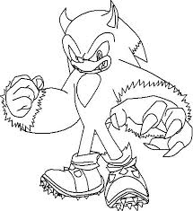 Sonic The Werehog Coloring Pages Color Page Col Pichonowin