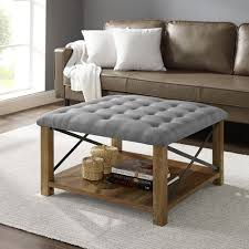 farmhouse tufted coffee table ottoman